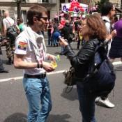 En pleine interview en 2013 à Paris