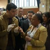 Avec la présence de Christiane Taubira, ministre de la Justice (c) A Roulet
