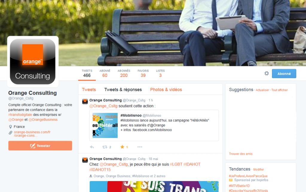 screenshoot Orange Consulting Heteralliés 2015