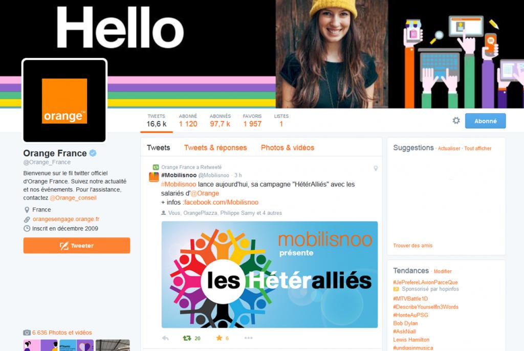 screenshoot Orange France Heteralliés 2015