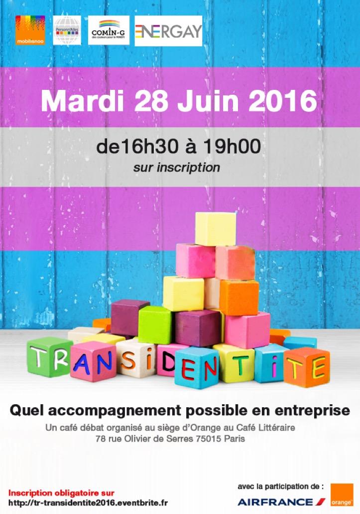 Affiche Table Ronde Transidentité 28 Juin 2016