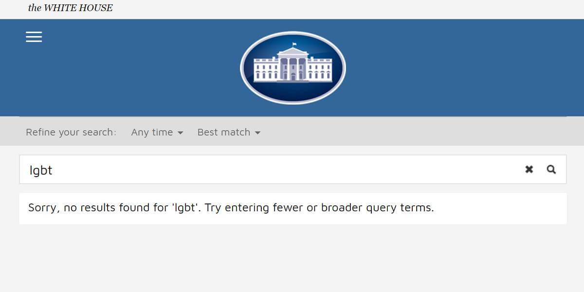 Capture de la page web du site de la Maison Blanche le 20 janvier 2017