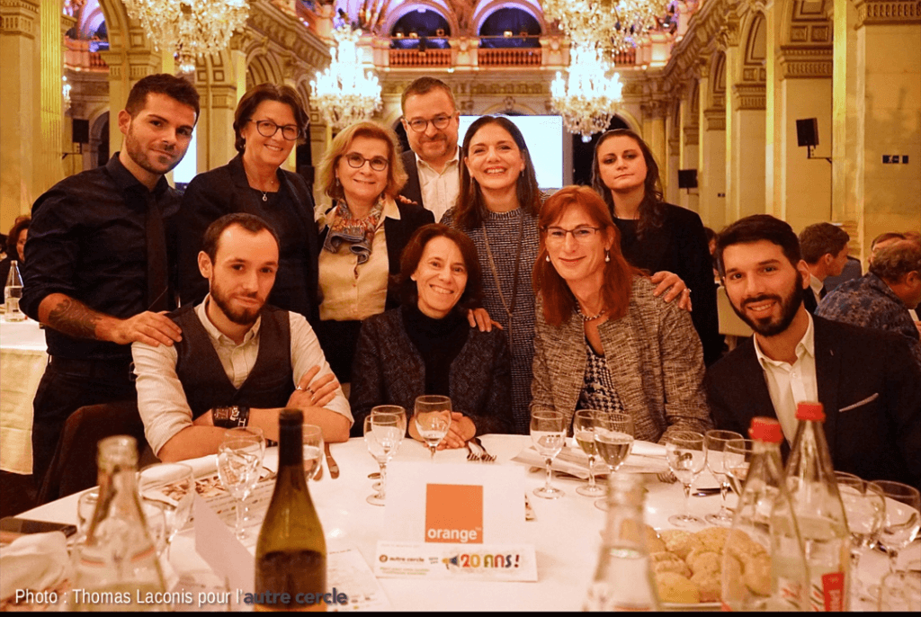 Soirée Les 20 ans de l'autre cercle - table Orange - 2017
